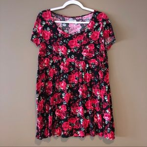 American Apparel Top, Floral Shirt, Tunic